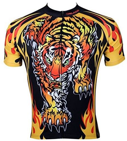 Dare to be there in fierce Tiger themed apparel. Let your competitors know: A Tiger Is Here, Better Stay Clear....Tiger Bike Shirt available at Amazon.com.