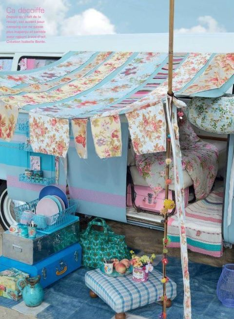 A pretty 21st Century take on a gypsy wagon. Photo via Decoholic on Pinterest.